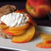 Peach-Shortcake-with-a-Honey-Greek-Yogurt-Topping